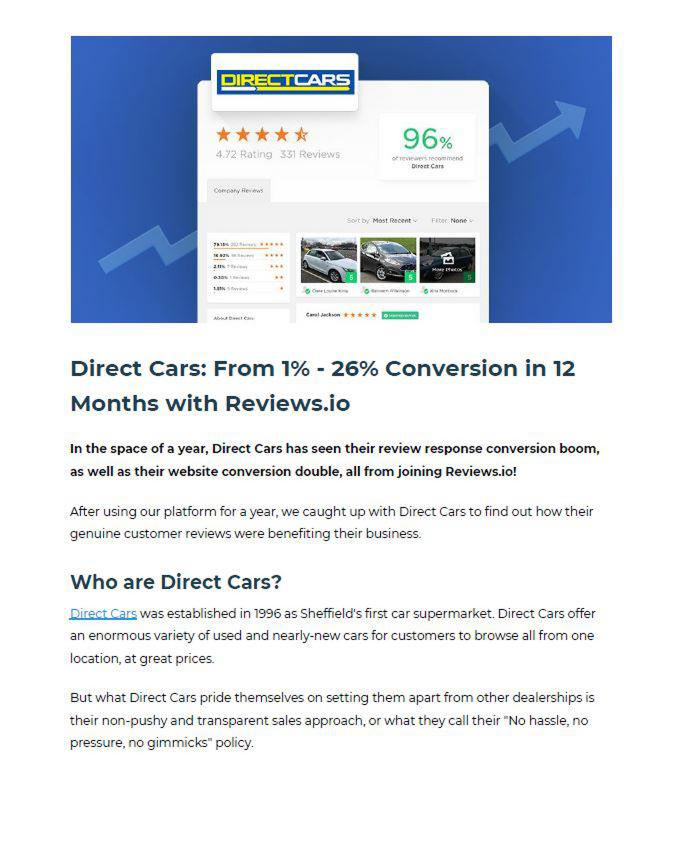 Case study: how Direct Cars went from 1% to 26% conversion in 12 months